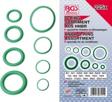 BGS set O-ring HNBR brtvi 3-22mm 225 kom pro+  8121