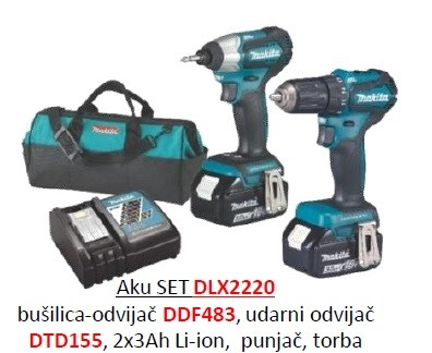 Makita akumulatorski set  DLX2220
